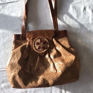 Handbags - Braccilalini Italian Python Leather/Suede handbag